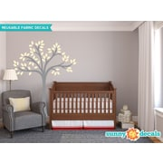 Sunny Decals Beautiful Tree Wall Decal; Ivory