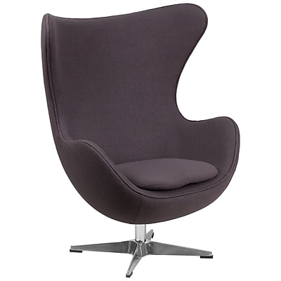 Flash Furniture Wool Fabric Egg Chair with Tilt-Lock Mechanism, Gray (ZB18)