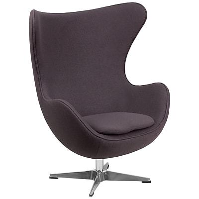 Flash Furniture Wool Fabric Egg Chair with Tilt-Lock Mechanism, Gray (ZB18)
