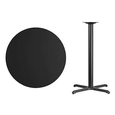 Flash Furniture – Table bistro ronde en stratifié de 36 po avec base de 30 x 30 po, noir (XURD36BKT3030B)
