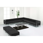 Flash Furniture  Hercules Imagination Series Leather Sectional and Ottoman Set, Black, 12/Pieces (ZBIMAGSET18)