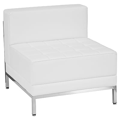 Flash Furniture  Hercules Imagination Series Contemporary Leather Middle Chair, White (ZBIMAGMIDDLEWH)