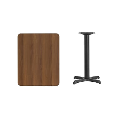 Flash Furniture – Table en stratifié noyer de 24 x 30 po avec base de 22 x 22 po (XUWA2430T2222)