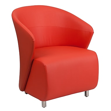 Flash Furniture Leather Reception Chair, Red (ZB6RD)