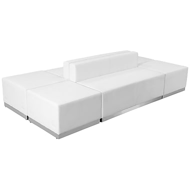 Flash Furniture – Mobilier de réception HERCULES Alon en cuir blanc, 6 modules (ZB803700SWH)