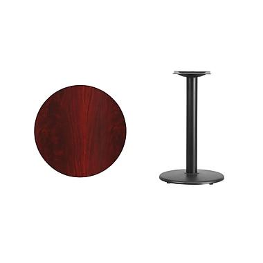 Flash Furniture – Table ronde en stratifié acajou de 24 po avec base circulaire de 18 po (XURD24MATR18)