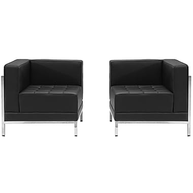 Flash Furniture – Ensemble de 2 sièges en coin HERCULES Imagination en cuir noir (ZBIMAGSET10)