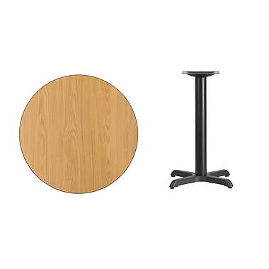 Flash Furniture – Table ronde en stratifié au fini naturel de 30 po avec base de 22 x 22 po (XURD30NTT2222)