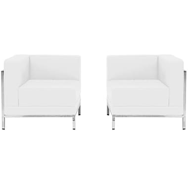 Flash Furniture – Ensemble de 2 sièges en coin HERCULES Imagination en cuir blanc (ZBIMAGSET10WH)
