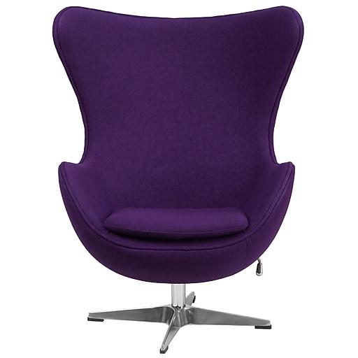 Flash Furniture Purple Fabric Egg Chair (ZB16)