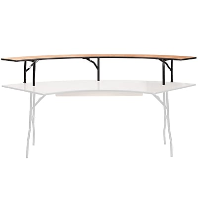 Flash Furniture 60'' Radius Bar Top Riser with Black Legs (YTWSFT60R12)