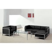 Flash Furniture  Hercules Imagination Series Leather Sectional and Chair, 5 Pieces, Black (ZBIMAGSET12)