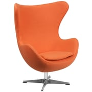 Flash Furniture Wool Fabric Egg Chair with Tilt-Lock Mechanism, Orange (ZB17)
