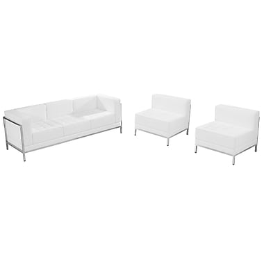 Flash Furniture Hercules Imagination Series Leather Sofa and Chair Set, White (ZBIMAGSET13WH)