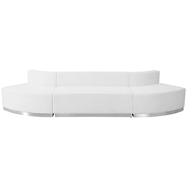 Flash Furniture – Mobilier de réception HERCULES Alon en cuir blanc, 3 modules (ZB803780SWH)