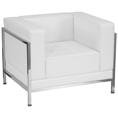 Flash Furniture Hercules Imagination Series Contemporary Leather Chair with Encasing Frame, White (ZBIMAGCHAIRWH)