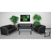 Flash Furniture  Hercules Gallant Series LeatherSoft Reception Set in Black (ZB8803SETBK)