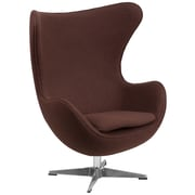 Flash Furniture Wool Fabric Egg Chair with Tilt-Lock Mechanism, Brown (ZB13)