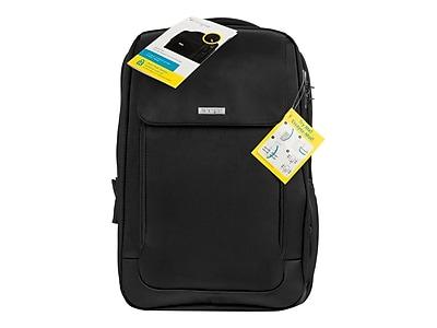 Kensington ® Black Poly Twill Backpack for 17