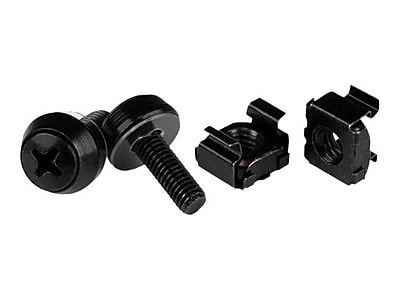 StarTech Screws and Cage Nut, Black, 50/Pack (CABSCREWM5B)