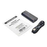 Tripp Lite 5200 mAh Mobile Power Bank USB Battery Charger with LED Flashlight, Black (UPB-05K2-1U)