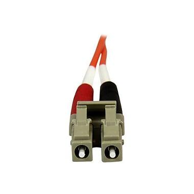 StarTech 50FIBPLCLC2 6.6' LC Male/Male 50/125 OM2 Duplex Multimode Fiber Optic Cable, Orange