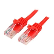 StarTech 45PATCH6RD 6' RJ-45 Male/Male Cat5e Patch Cable, Red
