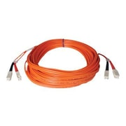 Tripp Lite N506-02M 2m SC/SC Male/Male 50/125 OM2 Duplex Multimode Fiber Optic Patch Cable, Orange