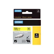 "Dymo ® 5"" x 1/4"" Direct Thermal Heat Shrink Wire and Cable Label, Black on Yellow, 1 Roll (18052)"
