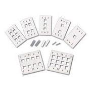 DNPC2G ® Single Gang Multimedia Keystone Wall Plate, White (03411)