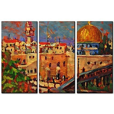 All My Walls 'Dome of the Rock' by Brian Simons 3 Piece Painting Print Plaque Set