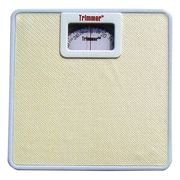 Trimmer Basic Metal Mechanical Bathroom Scale; White