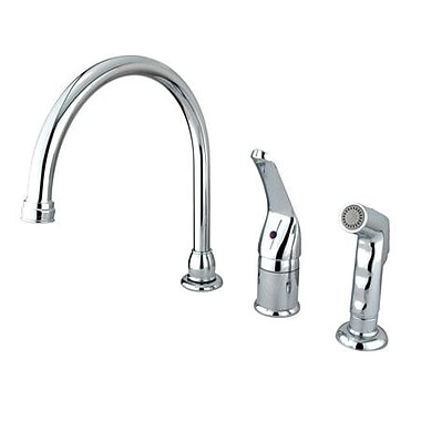Kingston Brass Chatham Pull Down Single Handle Kitchen Faucet; Polished Chrome