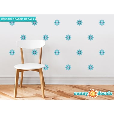 Sunny Decals Flower Wall Decal (Set of 28); Blue