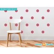 Sunny Decals Flower Wall Decal (Set of 28); Dark Pink