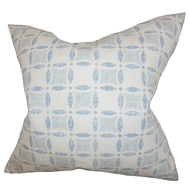 The Pillow Collection Jeune Geometric Throw Pillow Cover; Blue