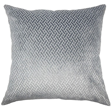 The Pillow Collection Ilayda Solid Throw Pillow Cover; Slate