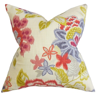 The Pillow Collection Vasant Floral Cotton Throw Pillow Cover