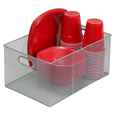 YBM Home Mesh Open Bin Storage Basket Organizer
