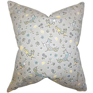 The Pillow Collection Laras Floral Cotton Throw Pillow Cover
