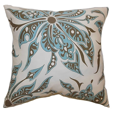 The Pillow Collection Baiamare Floral Cotton Throw Pillow Cover