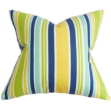 The Pillow Collection Manila Stripe Throw Pillow Cover; Yellow