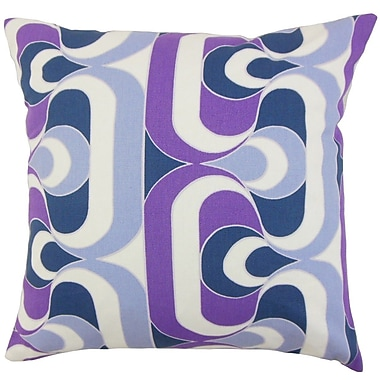 The Pillow Collection Nairobi Geometric Throw Pillow Cover; Plum