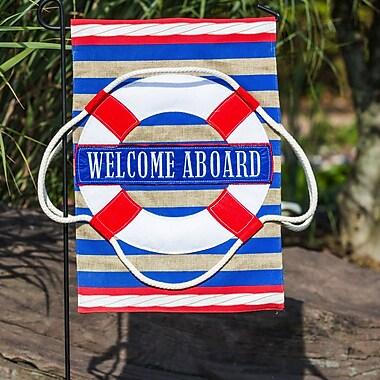 Evergreen Enterprises, Inc Nautical Welcome Garden Flag