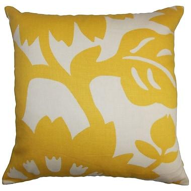 Ebern Designs Pittman Floral Cotton Throw Pillow Cover; 20'' x 20''
