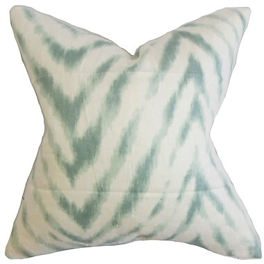 The Pillow Collection Quay Zigzag Linen Throw Pillow Cover