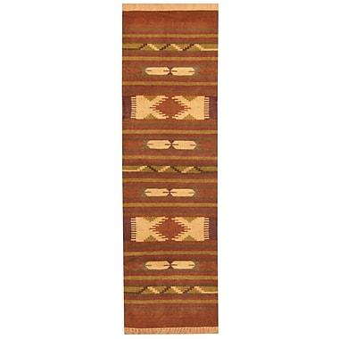 Herat Oriental Hand-Woven Rust/Brown Area Rug; Runner 2'6'' x 8'