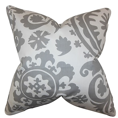 The Pillow Collection Wella Floral Throw Pillow Cover; Twill