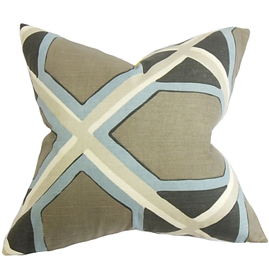 The Pillow Collection Otthild Geometric Throw Pillow Cover; Black Yellow