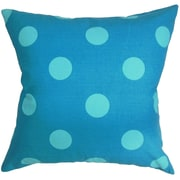 The Pillow Collection Rane Polka Dots Throw Pillow Cover; Turquoise Blue